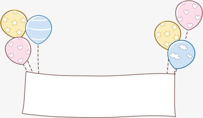 矢量商务场景插画商务场景手绘插画卡通气球横幅广告牌PPT商业卡通图片