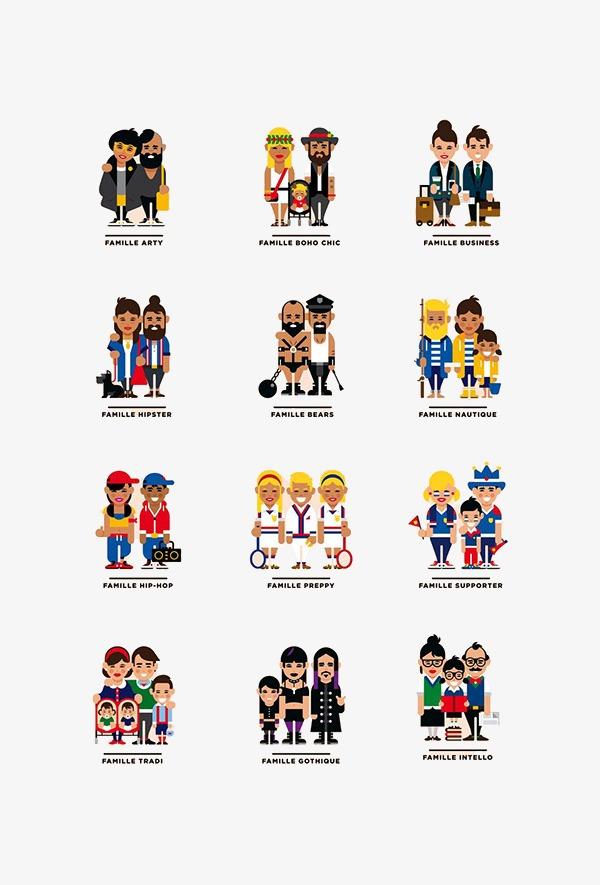 图片 卡通人物 > 【png】 扁平化人物图标合集  分类:手绘动漫 类目