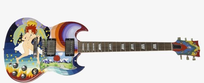 手绘图案吉他