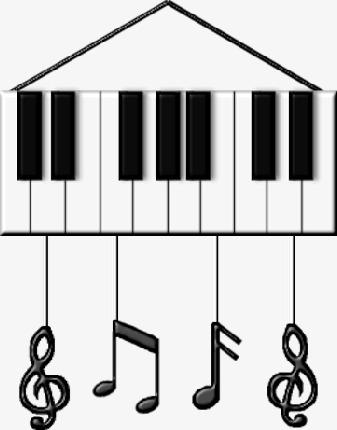 创意钢琴键图片