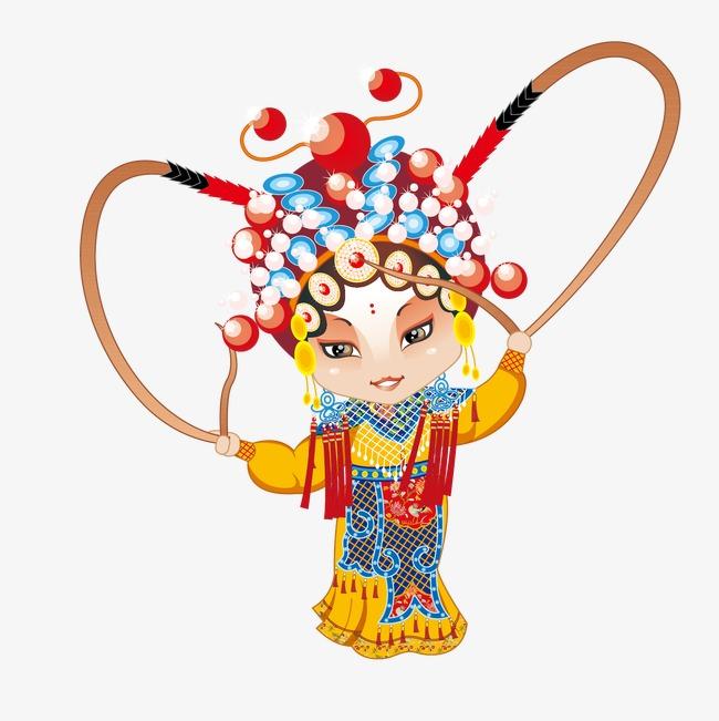 中国风戏曲手绘人物素材图片免费下载_高清装饰图案