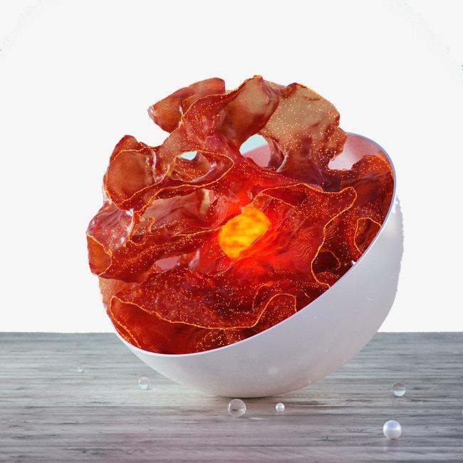 碗里红色发光体png素材-90设计
