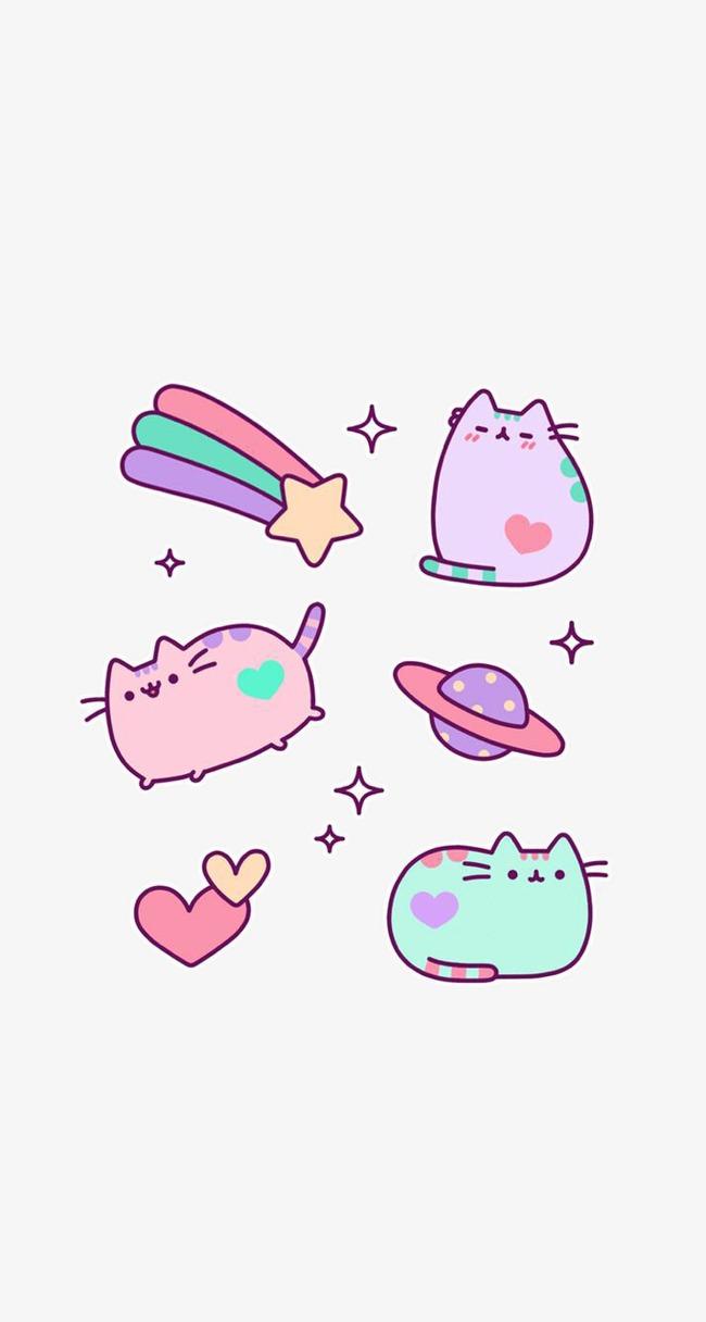 卡通手绘 猫咪 动物 宠物             此素材是90设计网官方设计