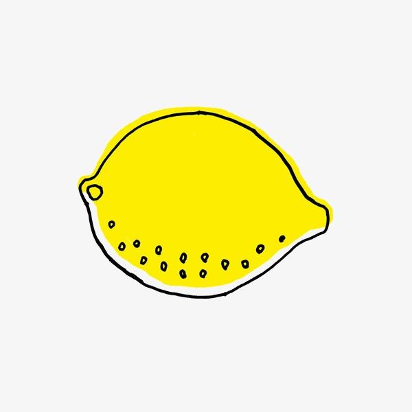 手绘卡通_手绘简笔画柠檬png素材-90设计