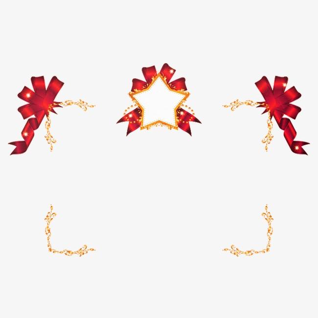 创意丝带边框png素材-90设计