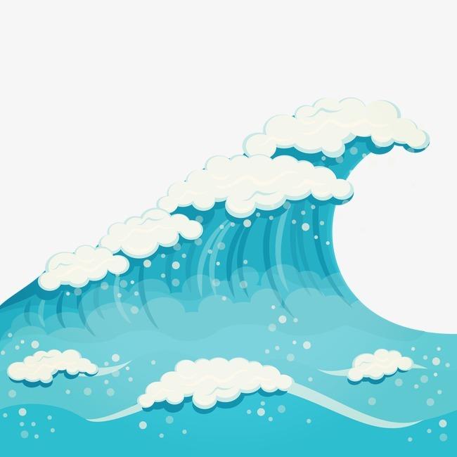 矢量手绘海浪