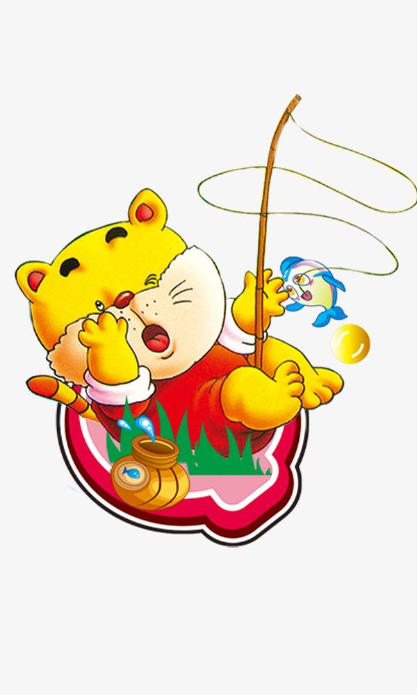 卡通插画 卡通猫卡通鱼 本子封面图片 海报素材 矢量素材 矢量单个图片
