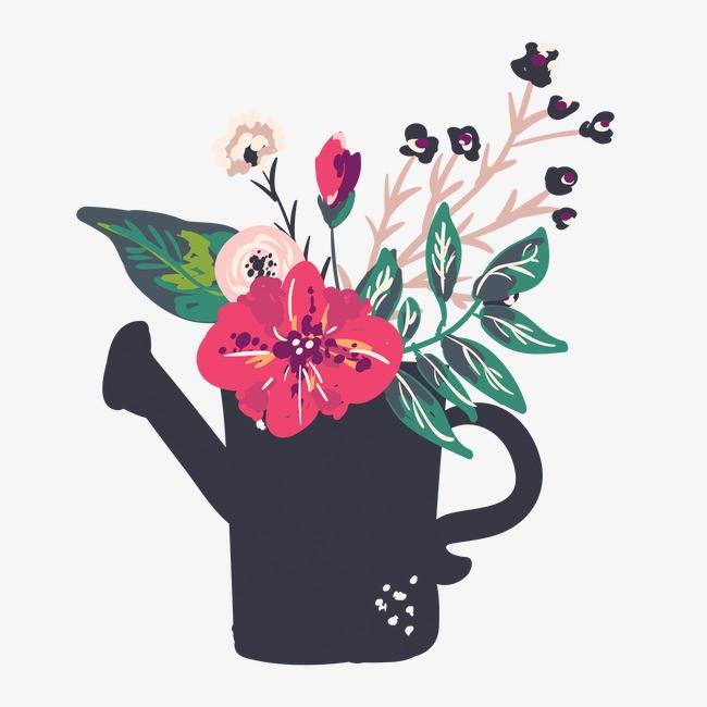 图片 > 【png】 洒水壶花卉植物  分类:手绘动漫 类目:其他 格式:png