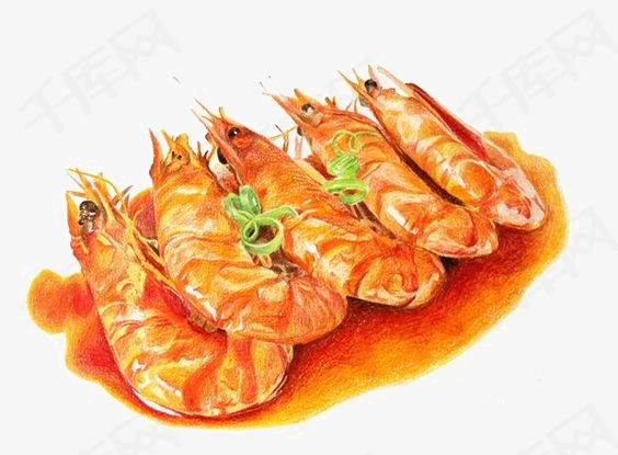 大虾素材图片免费下载 高清卡通手绘png 千库网 图片编号3673846