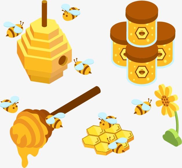 矢量手绘蜂蜜