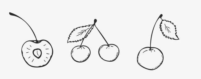 樱桃卡通手绘