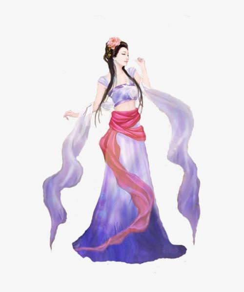 古装性感仙女手绘