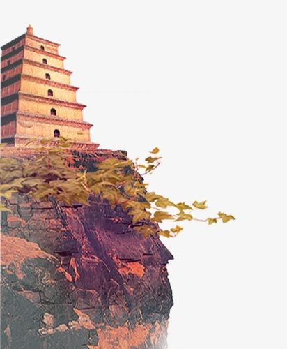中国风古塔png素材-90设计