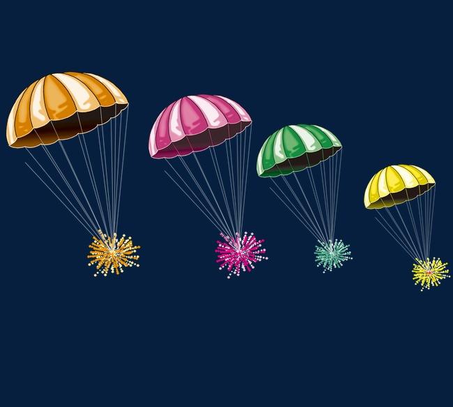 手绘降落伞
