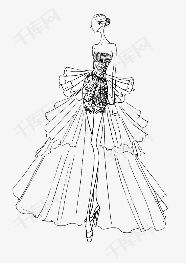 手绘婚纱美女素材图片免费下载 高清卡通手绘png 千库网 图片编号3695015