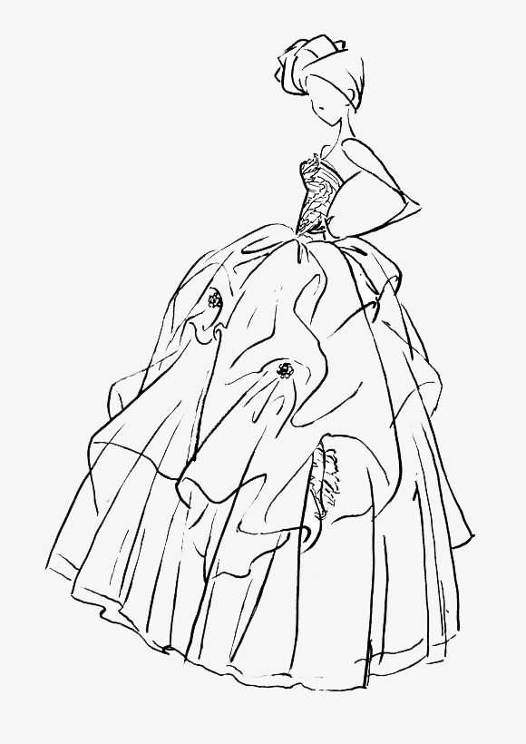 手绘婚纱美女素材图片免费下载 高清卡通手绘png 千库网 图片编号3695017
