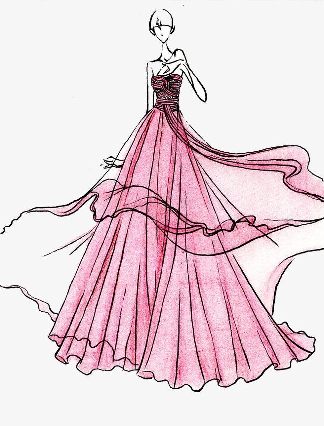手绘婚纱美女素材图片免费下载 高清卡通手绘png 千库网 图片编号3695033