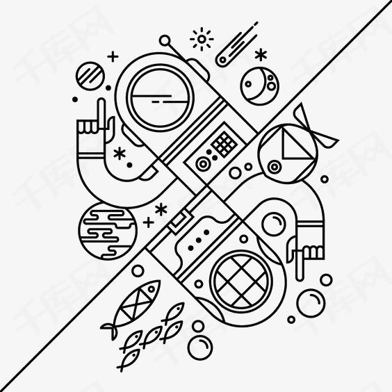 简笔画机器人素材图片免费下载 高清卡通手绘png 千库网 图片编号3701029