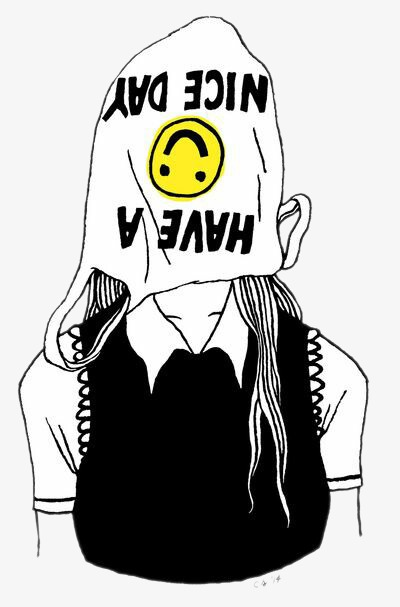 卡通文体用品黑白手绘