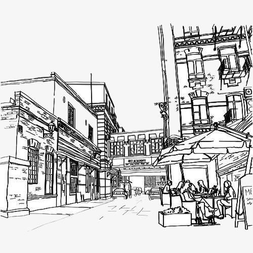 咖啡厅手绘图素材图片免费下载_高清卡通手绘png_千库