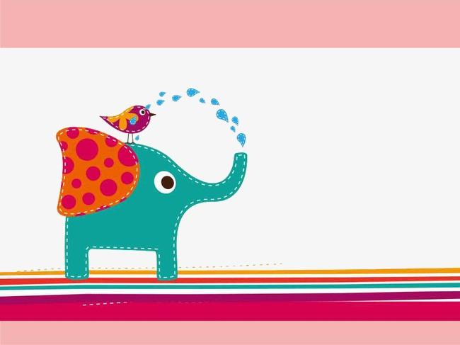 可爱小象ppt模板