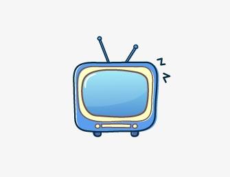 蓝彩色电视机素材图片免费下载_高清卡通手绘png_千库图片