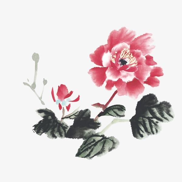中国画牡丹花_水墨牡丹花