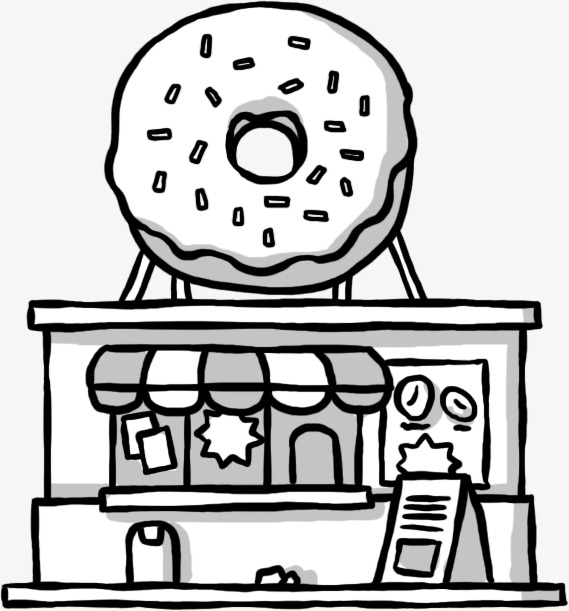 手绘甜品店