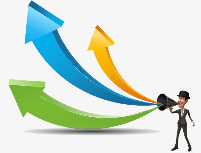 3d 立体 ppt 箭头 上升箭头 上涨箭头 上升趋势 上升 趋势图 统计图