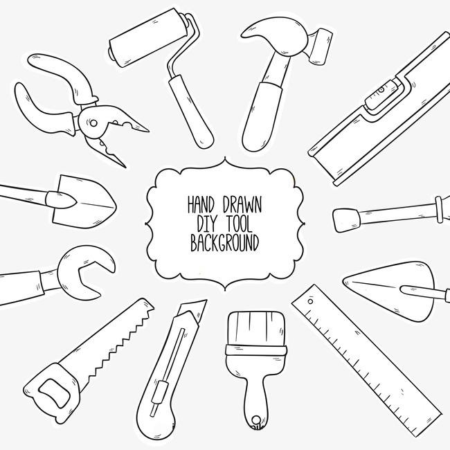 木工手工手绘工具【高清png素材】-90设计图片