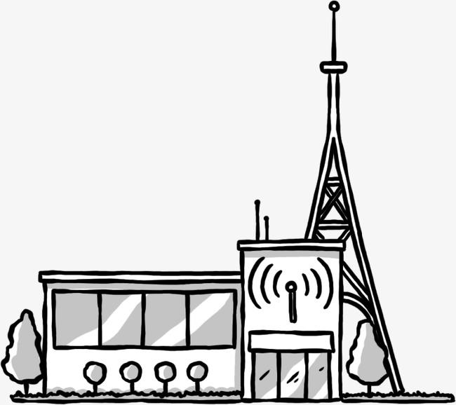 创意手绘广播站