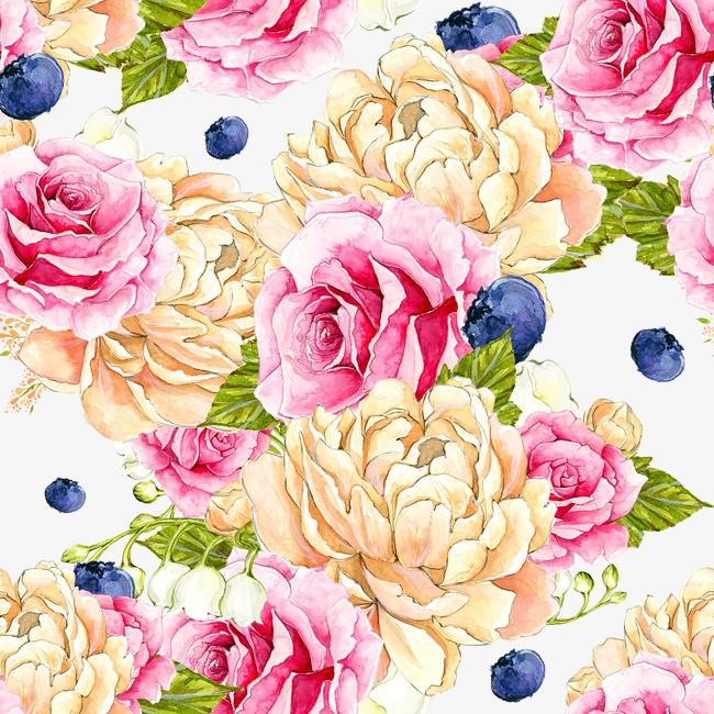 花丛手绘背景