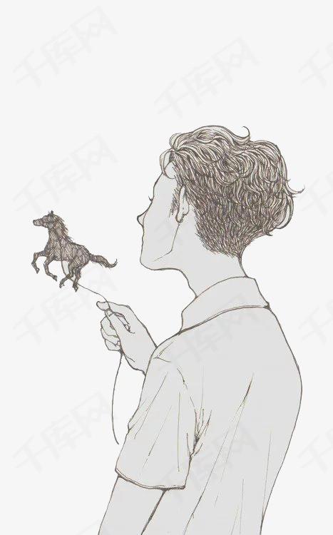 手绘插画人物素材图片免费下载 高清卡通手绘png 千库网 图片编号3735407
