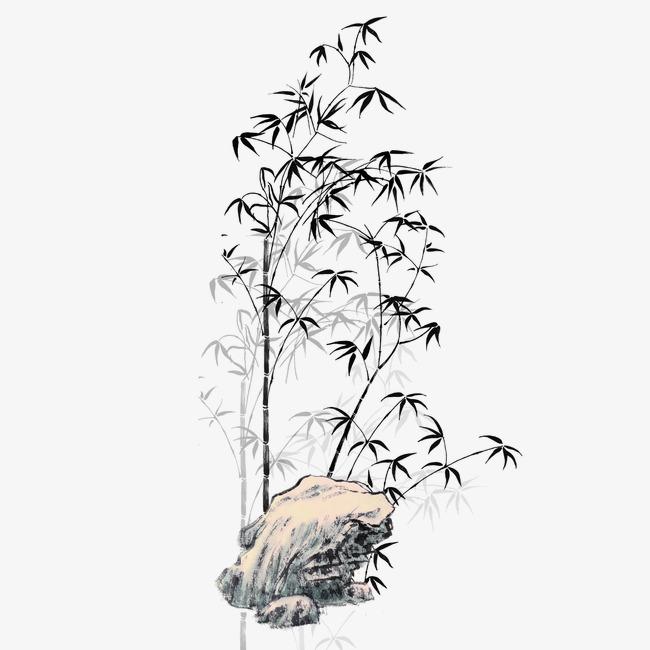 彩铅竹子手绘图片大全