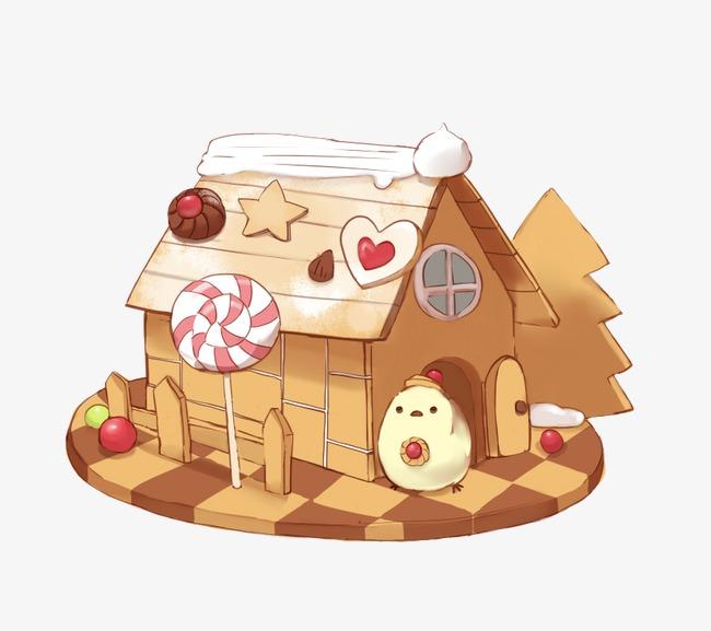 蛋糕房子里的小鸡