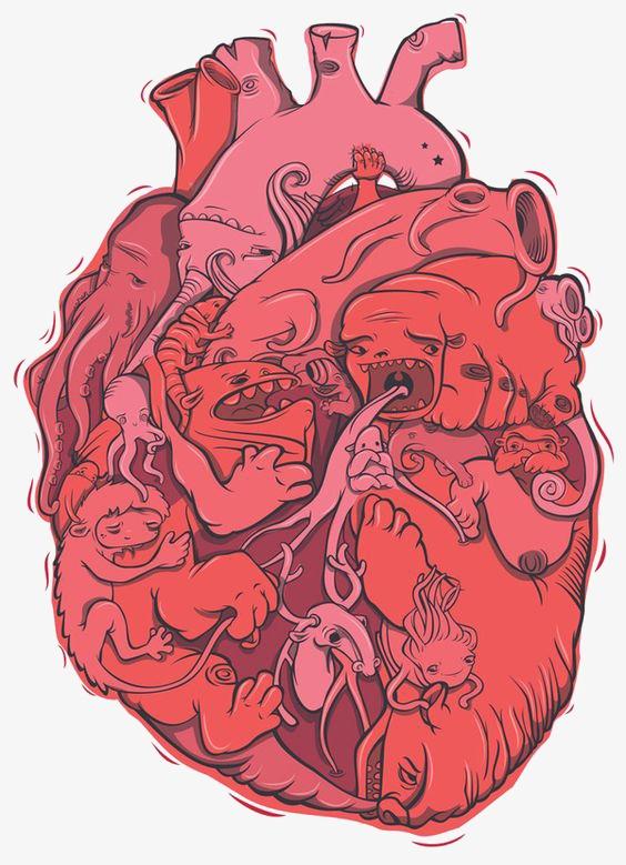 动物创意心脏
