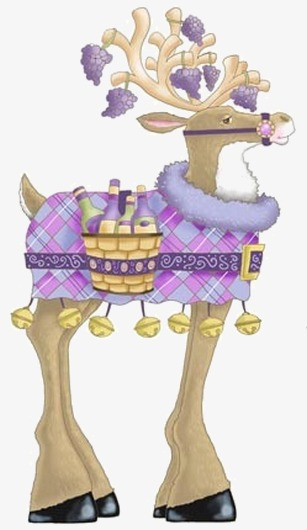 麋鹿卡通手绘图
