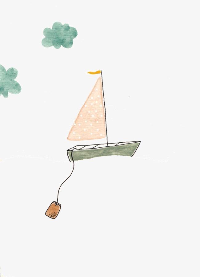 简单手绘帆船