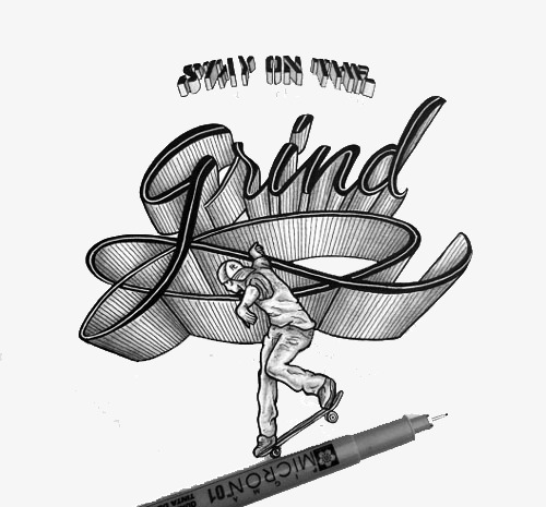 创意手绘字体设计艺术