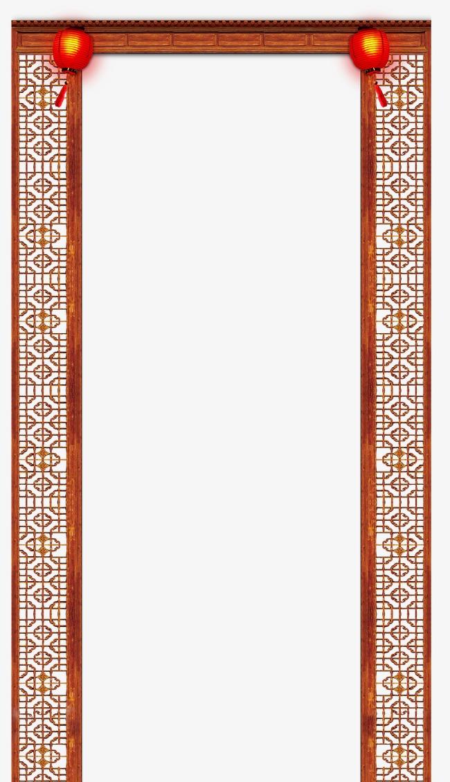 中式门头窗花素材图片免费下载_高清装饰图案psd_千库