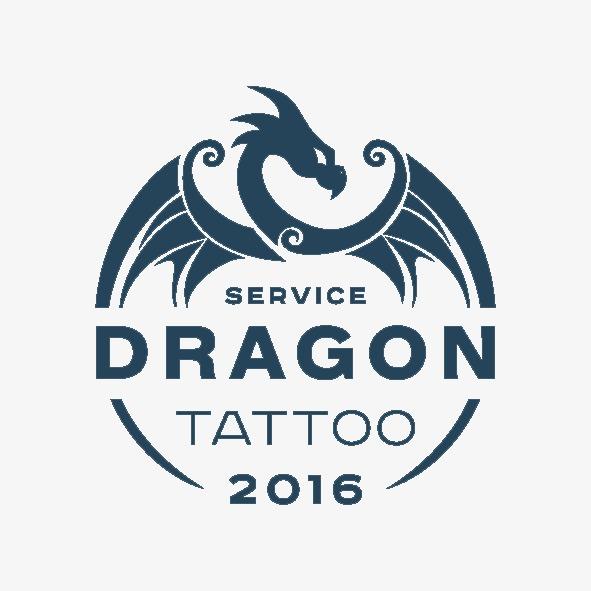 炫酷龙logo设计矢量素材