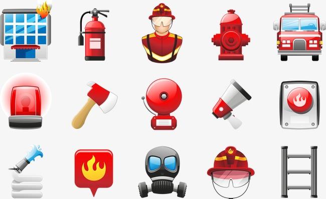 消防图标素材图片免费下载 高清图片pngpsd 千库网 图片编号3802029