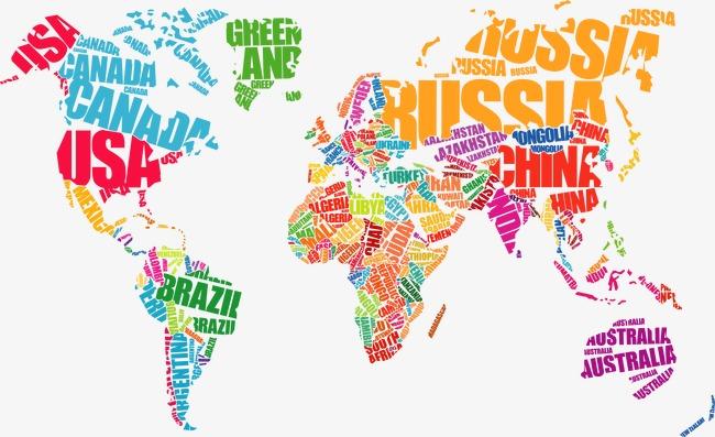 地图地图矢量图地球平面图