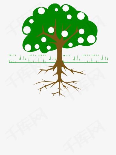 树 树根矢量图素材图片免费下载 高清装饰图案psd 千库网 图片编号3812516