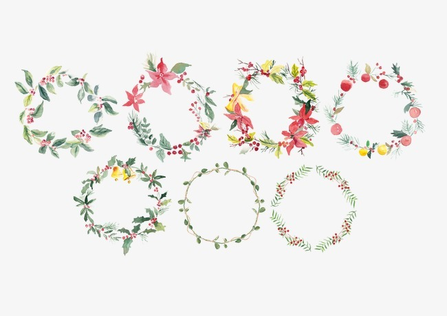 手绘花圈【高清png素材】-90设计