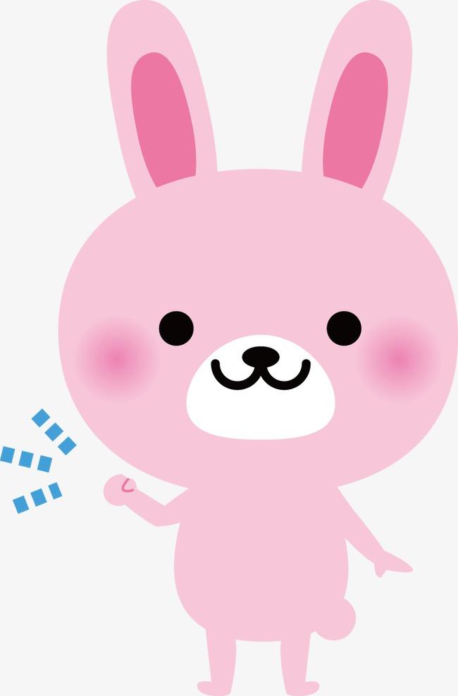 卡通小兔粉色图片