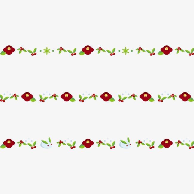 手绘分割线绿色【高清png素材】-90设计