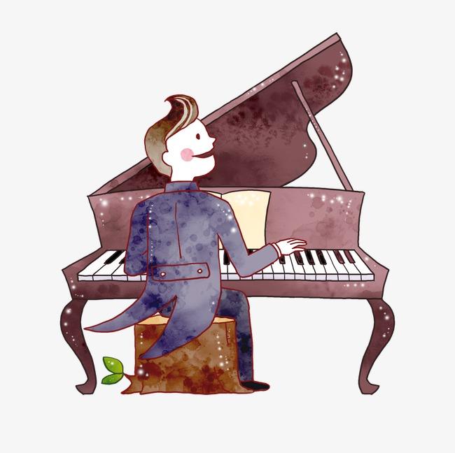 弹钢琴的人图片