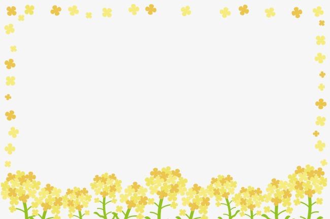 边框黄色小树手绘