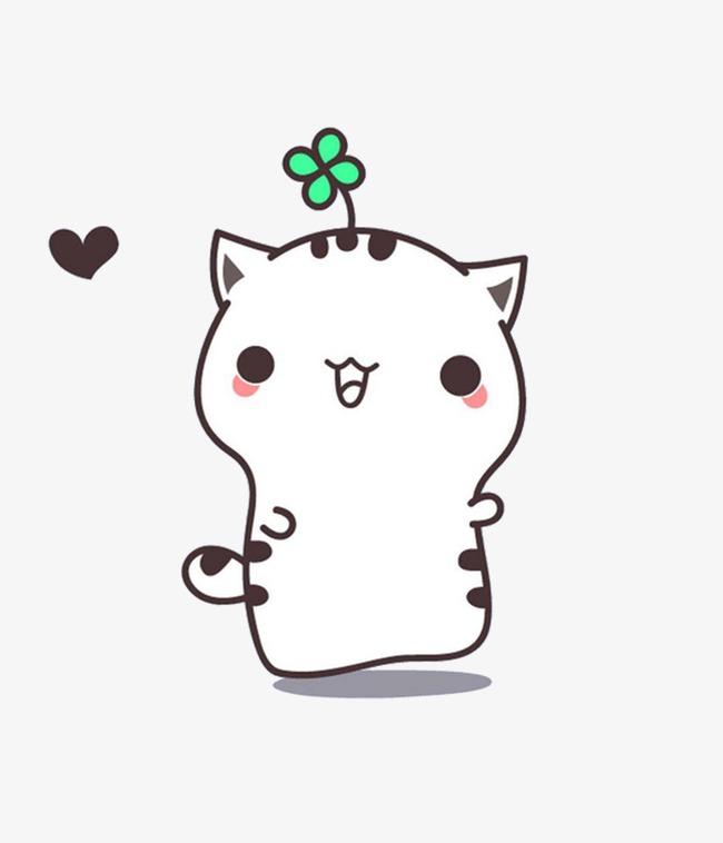 可爱卡通小猫咪手绘